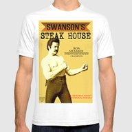T-shirt featuring Ron Swanson  |  Steak Ho… by Silvio Ledbetter