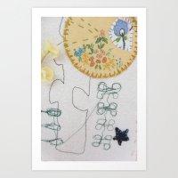 machine embroidery 1 Art Print
