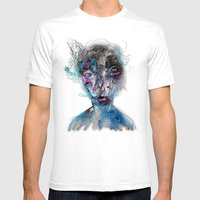 Grotesque/3 Mens Fitted Tee White SMALL