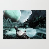 Fly Kids to the Moon Canvas Print