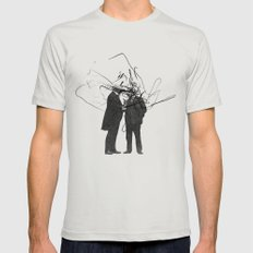 quick question Mens Fitted Tee Silver SMALL