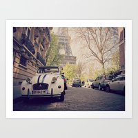 french Art Prints featuring French  by FlavioSarescia