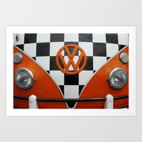 VW Checkers Art Print