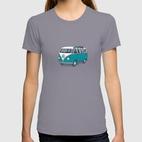 VW Campervan II Womens Fitted Tee Slate SMALL