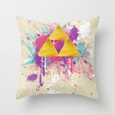Splash Triforce Throw Pillow