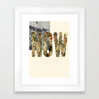 NOW! Framed Art Print
