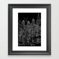 London! Dark T-shirt Ver… Framed Art Print
