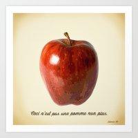 This Is Not An Apple Eit… Art Print