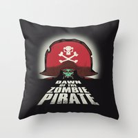 Dawn of the Zombie Pirate Throw Pillow