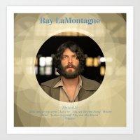 Album Cover Ray LaMontag… Art Print