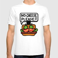No Cheese Please! Mens Fitted Tee White SMALL