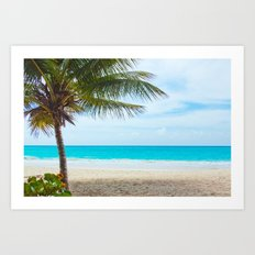Tropical Paradise Beach Art Print