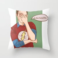 Sheldon Cooper Facepalm Throw Pillow