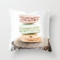 Macarons from Paris Throw Pillow