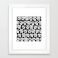 Boo - Skulls Pattern Framed Art Print