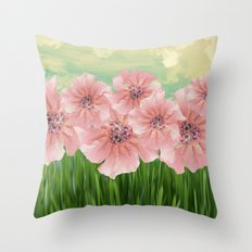 Fractal Flowers Bloom in May Throw Pillow