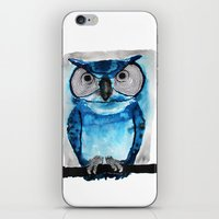 Blue Owl iPhone & iPod Skin