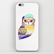 Hipster Owl, hipster, owl, owl art, illustration, print, children's, digital,  iPhone & iPod Skin