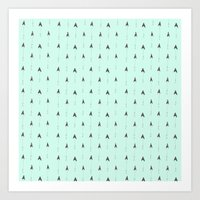 mint magic arrows Art Print