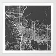 Tucson Map Art Print
