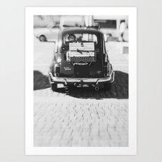 fiat 500 car - his Art Print