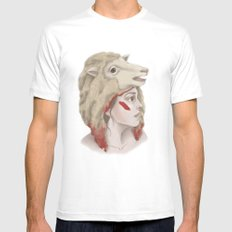 We Are Sheep White SMALL Mens Fitted Tee