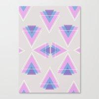TRIANGLES IN COLOUR Canvas Print
