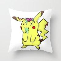 Zombiechu! Throw Pillow