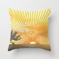 Marylin Sunset Throw Pillow
