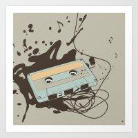Music Blast Art Print