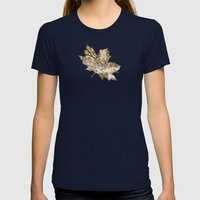 Sepia Fall Womens Fitted Tee Navy SMALL