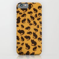 iPhone & iPod Case featuring Too many kitties Leopard print by Yetiland