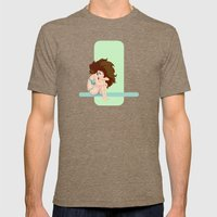 Cute pastel color shapes pin-up Mens Fitted Tee Tri-Coffee SMALL