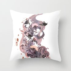 Luckless (Lavender) Throw Pillow