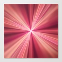 Pink Rays Abstract Fract… Canvas Print
