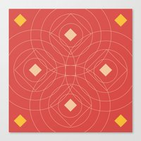 SOUND! Circle Square Pat… Canvas Print