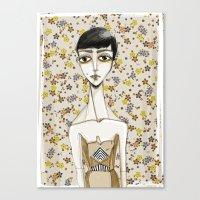 Flowerella 1 Canvas Print