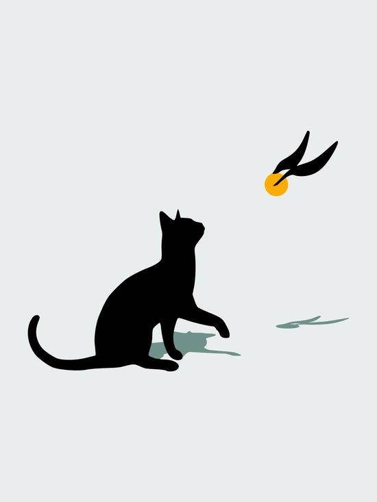 Cat and Snitch Art Print