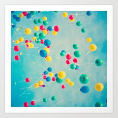 Polka Dots (Colorful Hap… Art Print