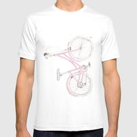 Pink Bike Mens Fitted Tee White SMALL
