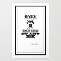 lord of the rings Art Prints featuring lord of the rings by christopher-james robert warrington