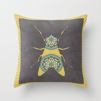 Fly On The Wall 4 Throw Pillow