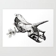 Jurassic Bloom - The Horned. Art Print