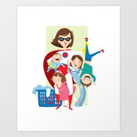 Super Mom Art Print