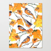 Birds In Autumn Canvas Print
