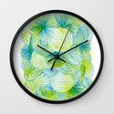 Space lime Wall Clock