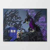 And Now You Will Deal with ME, O' Doctor Canvas Print
