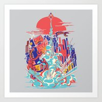 Smash! Zap!! Zooom!! - G… Art Print
