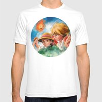 Sophie and Howl from Howl's Moving Castle Tra-Digital Painting Mens Fitted Tee White SMALL