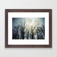 treeline* Framed Art Print